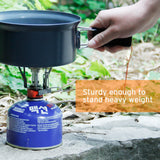 Ultralight Portable Outdoor Backpacking Camping Stoves with Piezo Ignition, 1-Year Warranty, Butane/Butane Propane Canister Compatible