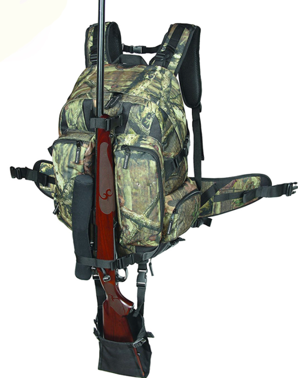 Camouflage Tactical Rifle Backpack Hunting Gun Bag Airsoft Paintball Shotgun Daypack with Integrated Gun Carry System