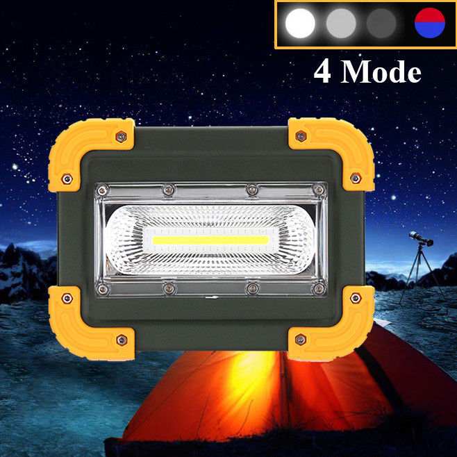 30W USB COB LED Portable Rechargeable Flood Light Spot Work Camping Outdoor Lamp