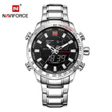 Luxury Mens Military Style Sport Watch Digital Quartz Full Steel