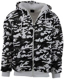 Mens Full Zipper Fleece Hoodie with Lining (Many Designs To Choose From)