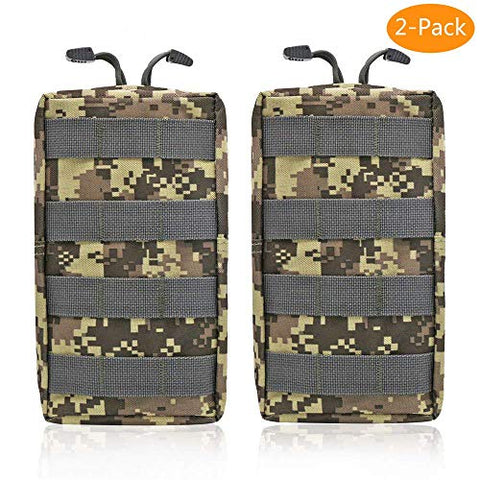 2 Pack Molle Pouches - Tactical Compact Water-Resistant EDC Pouch