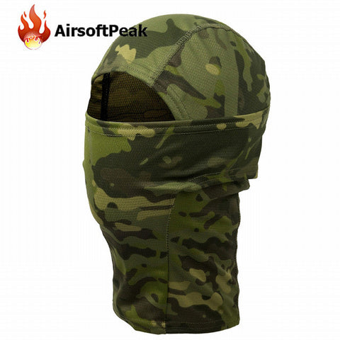 Camouflage Full Face Mask Quick-dry Fabric Hunting Headwear Cycling Hiking Outdoor Windproof Sunshade Scarf Hood