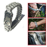 Outdoor Survival Multi Functional EDC Tactical 7 Core Parachute Survival Rope Bracelet With Packet Knife Self Defense