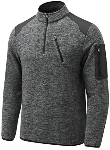 Men's 1/4 Zip Fleece Sport Sweatshirt
