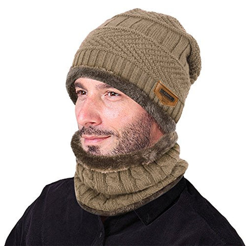 2-Piece Hat Neck Warmer Scarf Set