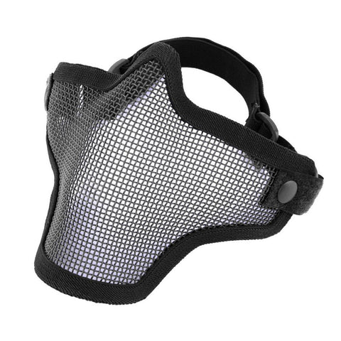 2017 New Half Lower Face Metal Steel Net Mesh Hunting Tactical Protective Airsoft Mask Gofuly New Brand