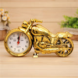 Cool Clocks Desk Family Decoration Alarm Clock  Classic Motorcycle Mute Snooze Mechanical Alarm Clock Desk Bedroom For Boys Gift