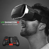Shinecon VR Pro Version Virtual Reality 3D Glasses Headset Head Mount Google Cardboard Movie Game For 4-6 inch Phone + Remote!!!