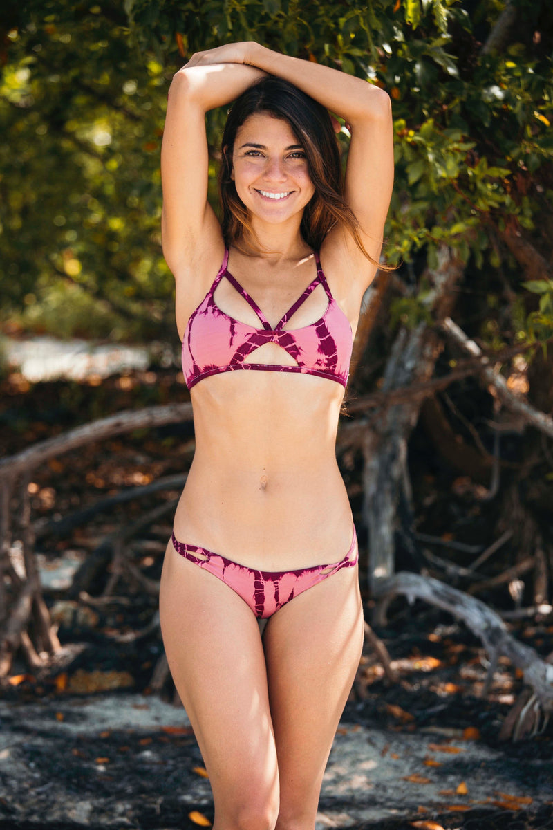 Malibu Crush Triangle Top in Rose - Boho Bum Island Clothing Swimwear Bohemian Boho west palm beach  Miami florida  fall fashion spring fashion online shopping ootd blogger style swim boutique