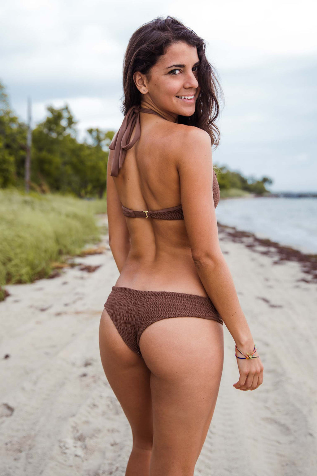 Saffron Bottom in Cacao - Boho Bum Island