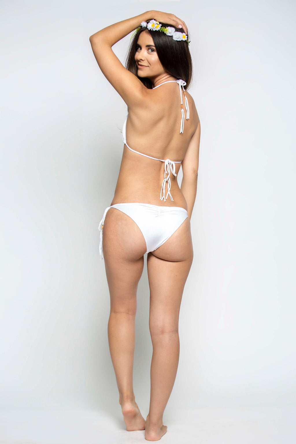Mirage Tie Side Bottom in Diamond White - Boho Bum Island