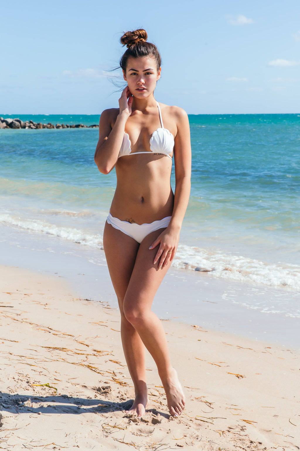 Pixie Top in Pearl - Boho Bum Island
