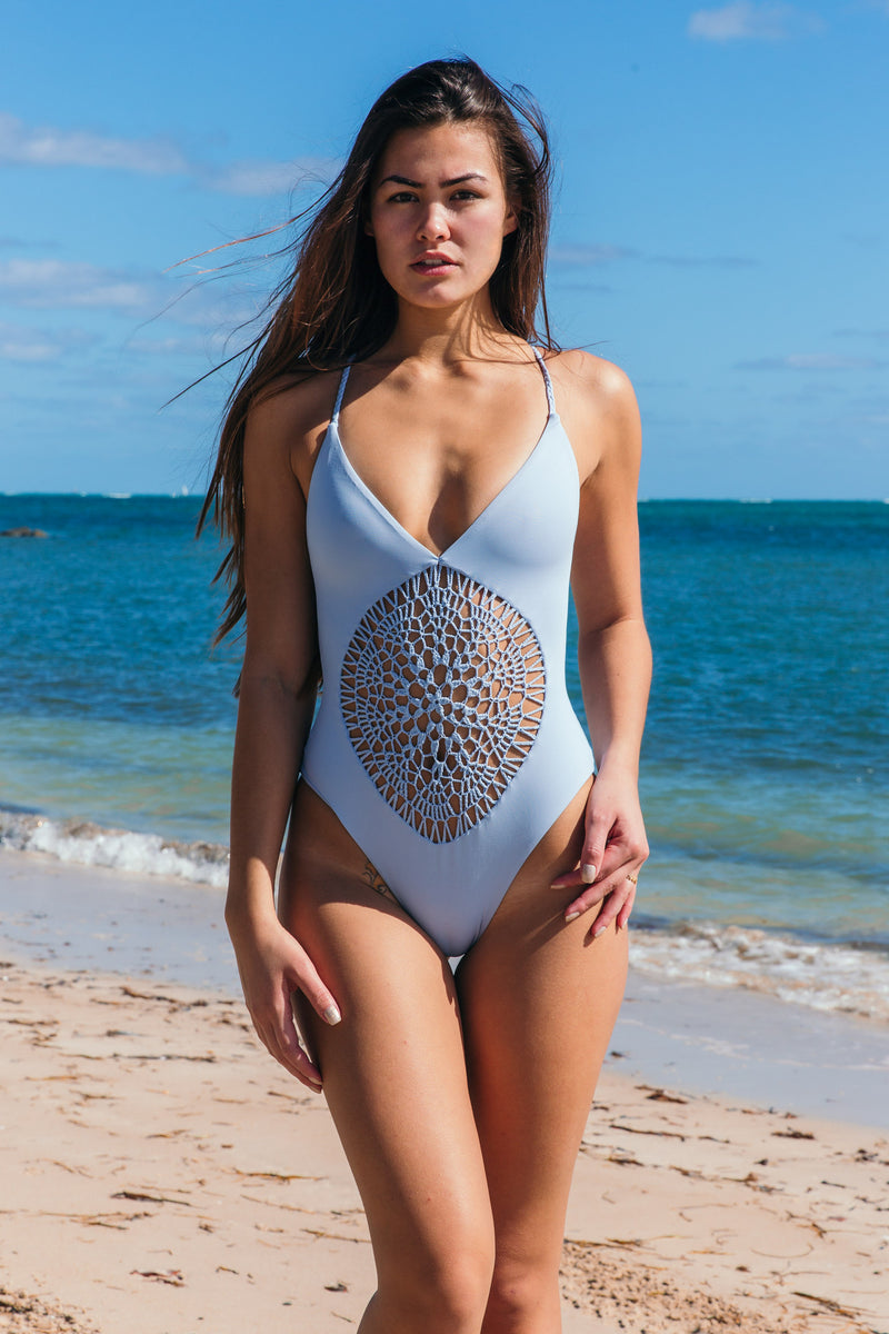 Poppy One Piece in Cloud - Boho Bum Island
