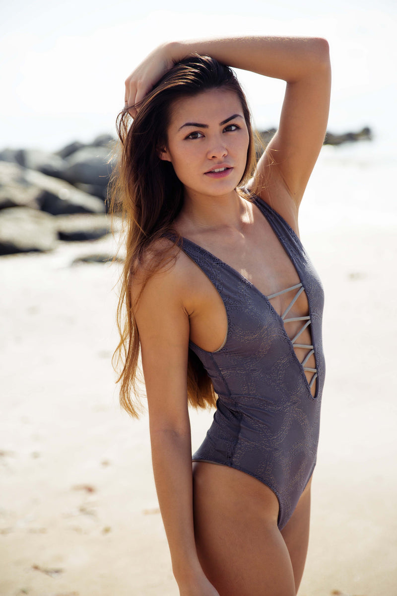 Indah Kennedy One Piece in Taupe - Boho Bum Island