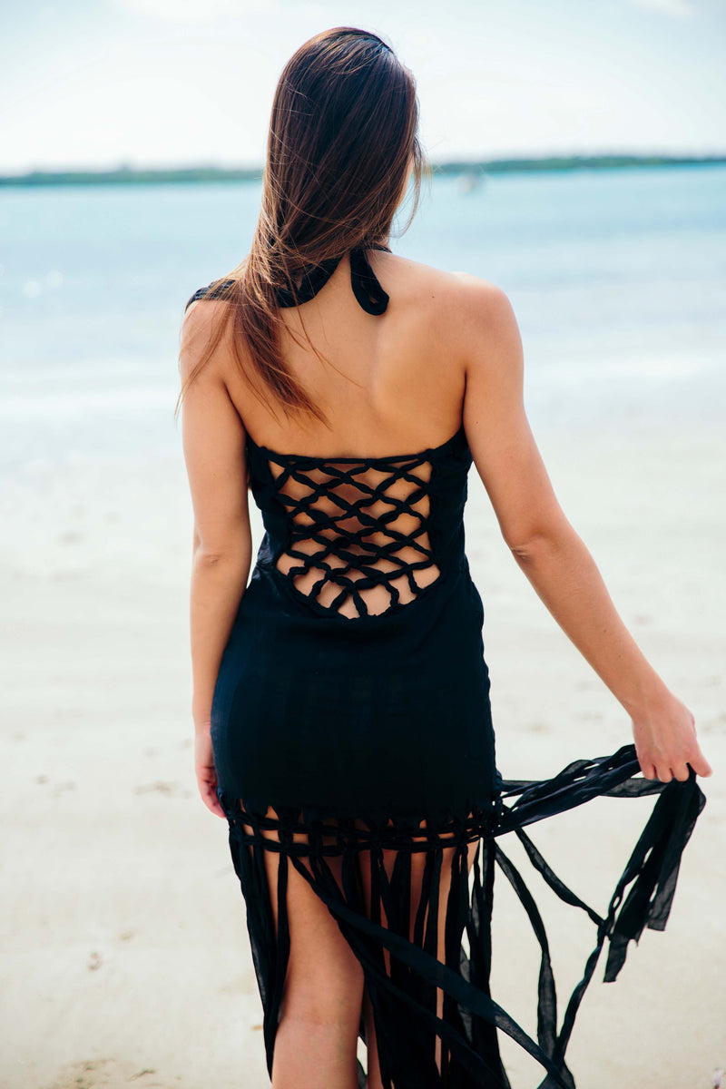 Takala Dress in Black - Boho Bum Island Clothing Swimwear Bohemian Boho west palm beach  Miami florida  fall fashion spring fashion online shopping ootd blogger style swim boutique
