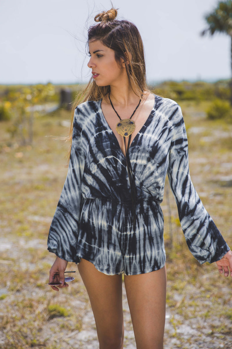 New Boho Romper in Royal Palm - Boho Bum Island Clothing Swimwear Bohemian Boho west palm beach  Miami florida  fall fashion spring fashion online shopping ootd blogger style swim boutique