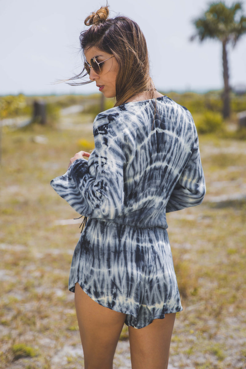 New Boho Romper in Royal Palm - Boho Bum Island