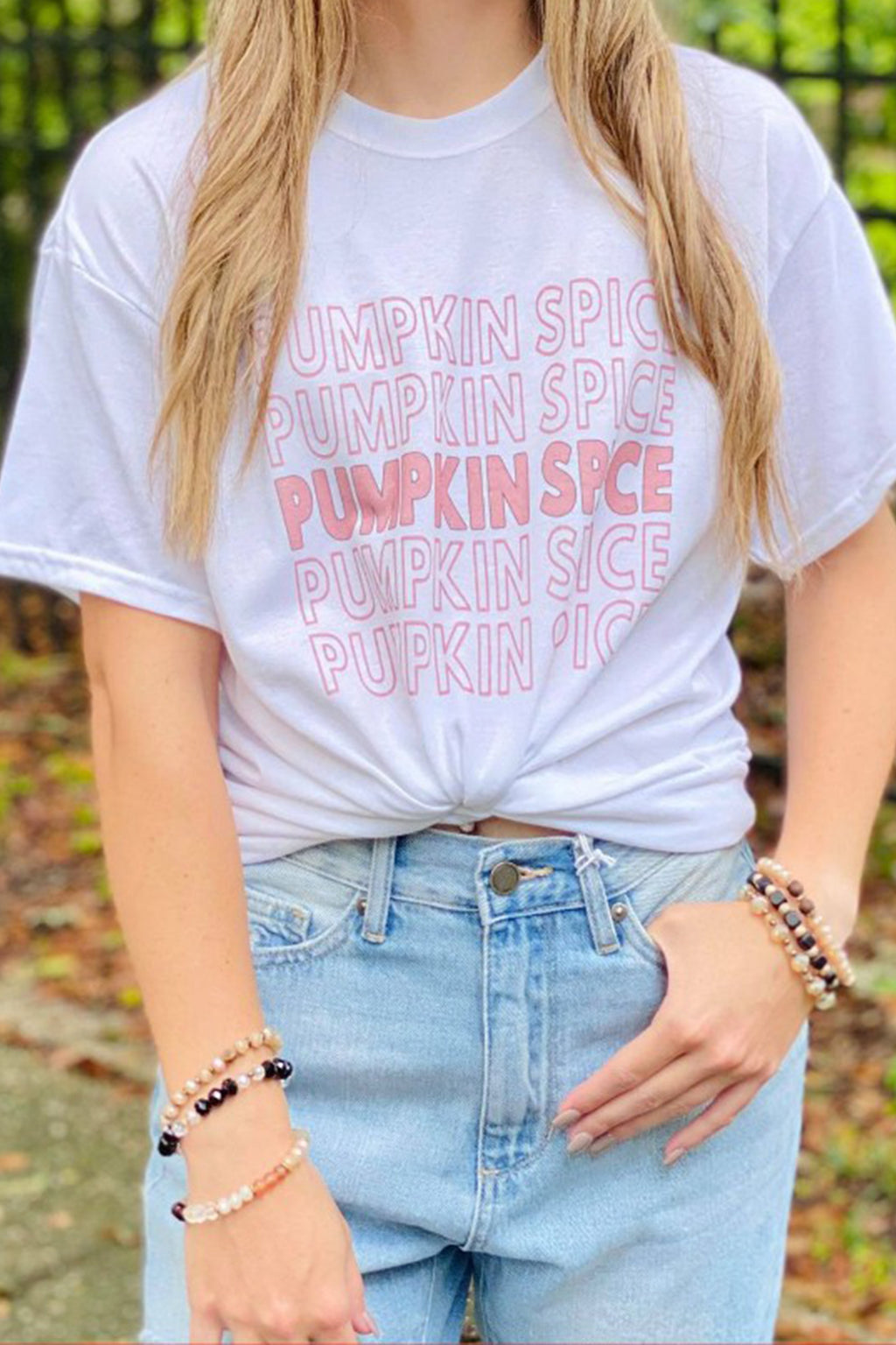 Pumpkin Spice Oversized Tee in White