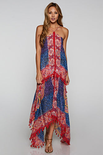 Boho Scarf Dress in Multi - Boho Bum Island Clothing Swimwear Bohemian Boho west palm beach  Miami florida  fall fashion spring fashion online shopping ootd blogger style swim boutique