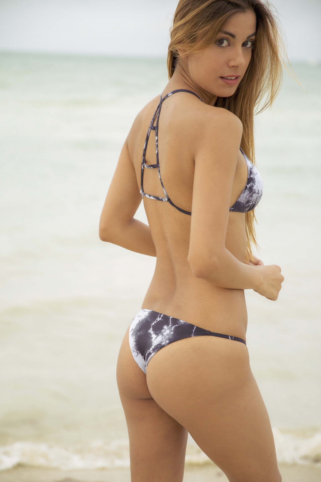 Blue Life Birds of Paradise Skimpy Bottom in White Smoke - Boho Bum Island