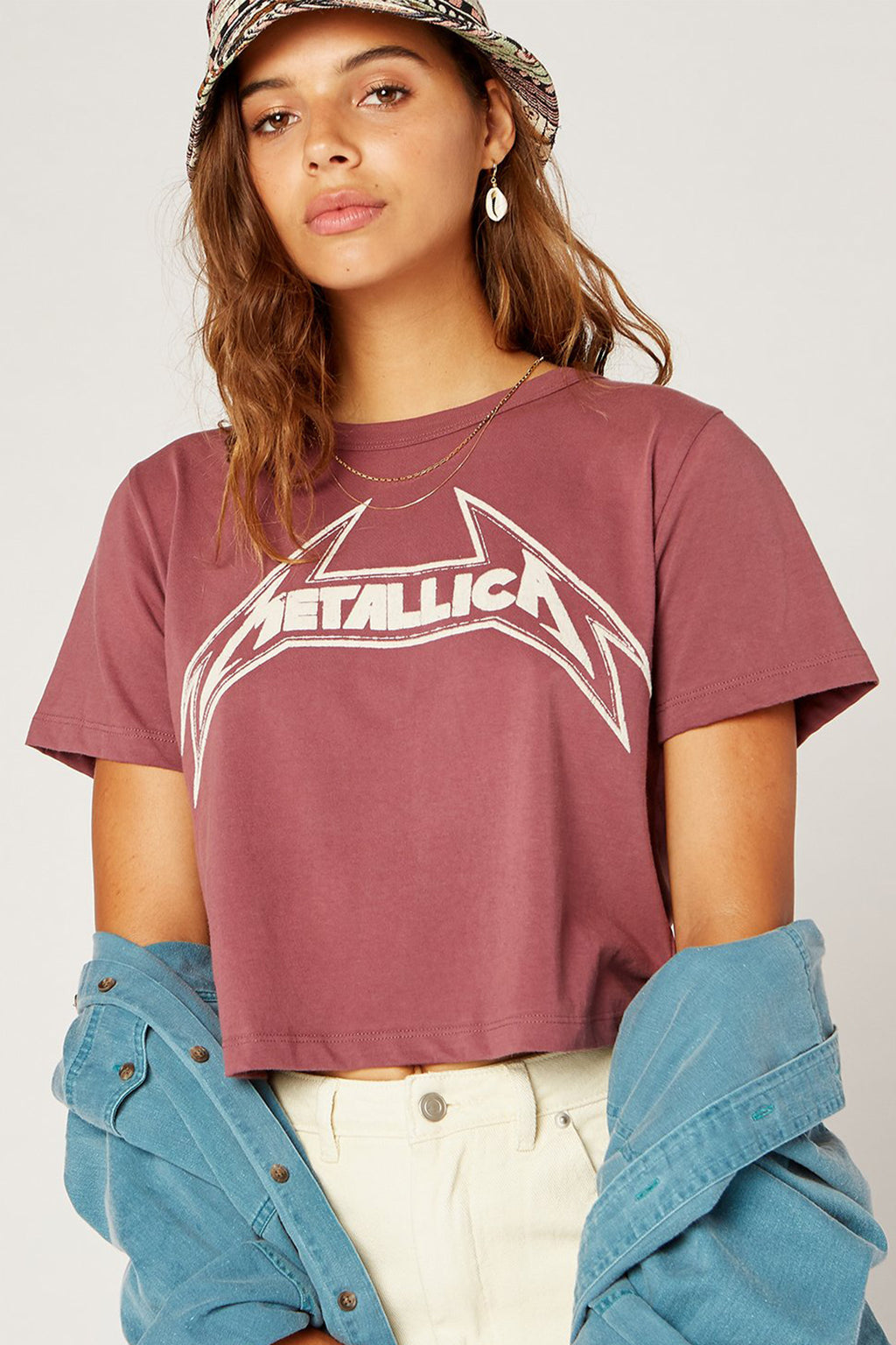 Metallica Young Metal Rebel Crop Tee - Boho Bum Island Clothing Swimwear Bohemian Boho west palm beach  Miami florida  fall fashion spring fashion online shopping ootd blogger style swim boutique