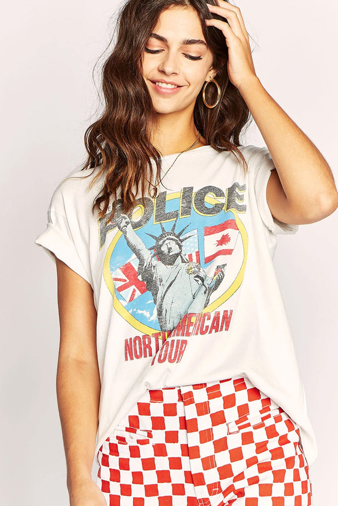 The Police North American Tour Weekend Tee - Boho Bum Island Clothing Swimwear Bohemian Boho west palm beach  Miami florida  fall fashion spring fashion online shopping ootd blogger style swim boutique