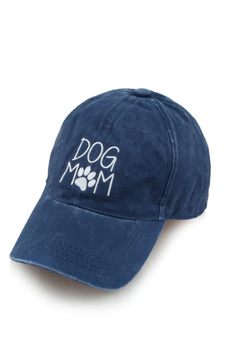 Dog Mom Baseball Cap in Navy - Boho Bum Island