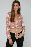 Riley Crop Top in Vintage Rose