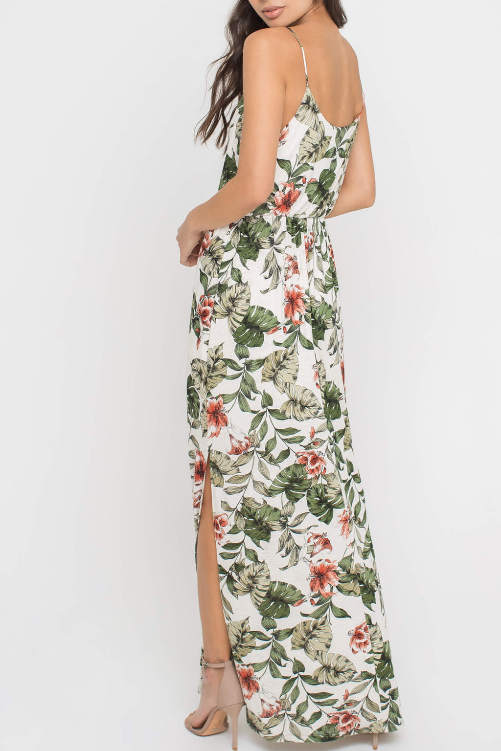 Piper Maxi Dress in Tropical Floral - Boho Bum Island Clothing Swimwear Bohemian Boho west palm beach  Miami florida  fall fashion spring fashion online shopping ootd blogger style swim boutique