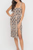 Raquel Midi Dress in Python - Boho Bum Island Clothing Swimwear Bohemian Boho west palm beach  Miami florida  fall fashion spring fashion online shopping ootd blogger style swim boutique