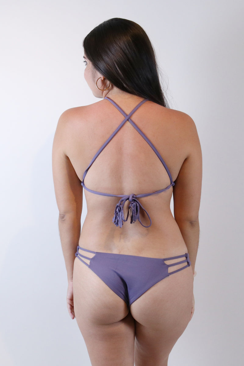 Strappy Cheeky Bottom in Haze - Boho Bum Island