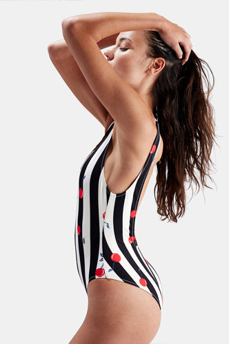 The Michelle One Piece in Cherries - Boho Bum Island Clothing Swimwear Bohemian Boho west palm beach  Miami florida  fall fashion spring fashion online shopping ootd blogger style swim boutique