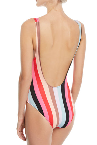 The Anne Marie One Piece in Malibu Stripe - Boho Bum Island Clothing Swimwear Bohemian Boho west palm beach  Miami florida  fall fashion spring fashion online shopping ootd blogger style swim boutique