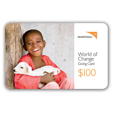Image result for world vision canada world of change card