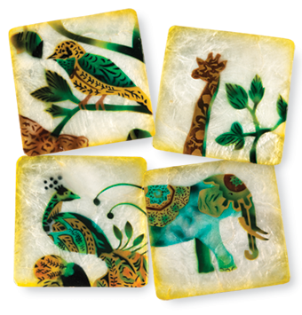 Capiz Shell Coasters