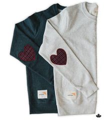 Heart on Your Sleeve Sweatshirt - Charcoal