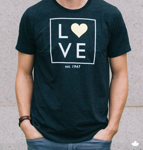 Heart of Gold Tee - Heather Dark Grey