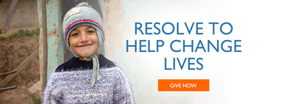 Resolve to help change lives