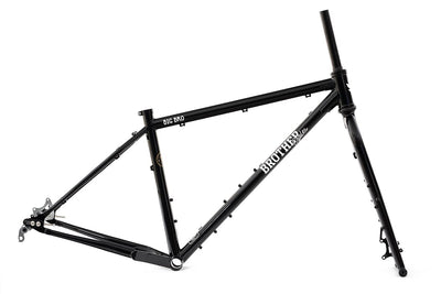 Brother Cycles Big Bro Frameset-Adventure Bikes-Brother Cycles-Small-Black-Bicycle Junction