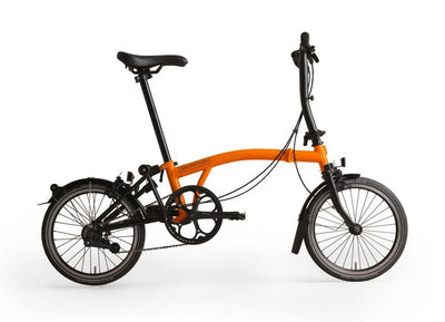 Brompton S-Series Black Edition-Folding Bikes-Brompton-6-speed-L-type-Orange-Bicycle Junction