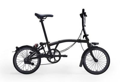 Brompton S-Series Black Edition-Folding Bikes-Brompton-6-speed-L-type-Black-Bicycle Junction