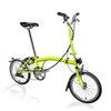 Brompton S-Series-Folding Bikes-Brompton-6-speed-L-type-Lime Green-Bicycle Junction