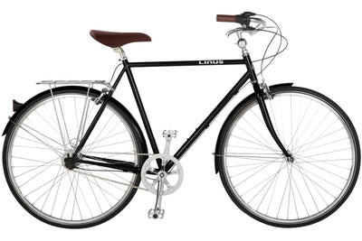 Linus Roadster Sport-Urban Bikes-Linus-Large-Black-Bicycle Junction
