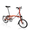 Brompton S-Series-Folding Bikes-Brompton-6-speed-L-type-Flame Lacquer-Bicycle Junction
