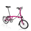 Brompton S-Series-Folding Bikes-Brompton-6-speed-L-type-Hot Pink-Bicycle Junction