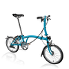 Brompton S-Series-Folding Bikes-Brompton-6-speed-L-type-Lagoon Blue-Bicycle Junction