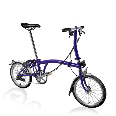 Brompton S-Series-Folding Bikes-Brompton-6-speed-L-type-Purple Metallic-Bicycle Junction