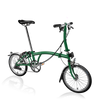 Brompton S-Series-Folding Bikes-Brompton-6-speed-L-type-Racing Green-Bicycle Junction