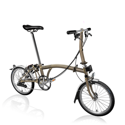 Brompton S-Series-Folding Bikes-Brompton-6-speed-L-type-Raw Lacquer-Bicycle Junction